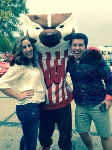 BUCKY THE BADGER, and Hannah!