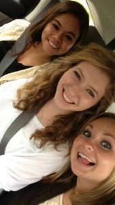 The backseat trio of Karleigh, Dalila, and I headed to Grand Rapids-- notice the practice of our selfie taking skills is top-notch, :)