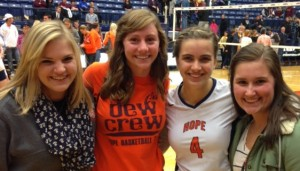 Hope College Volleyball Game