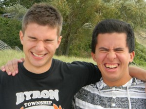 Nate and me, and this sums up our friendship!