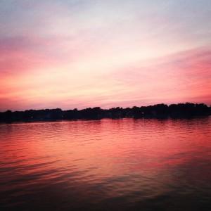 enjoy this sunset from Lake Macatawa