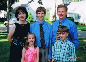 My family at my brother's 8th grade graduation.