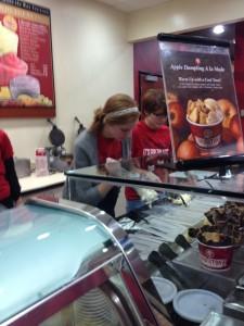 Danae working her ice cream magic!
