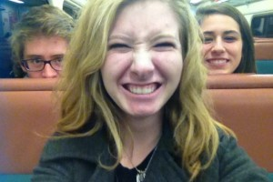 My friends Cullen, Sarah, and I headed for the city. Believe it or not, it was my first time ever riding a train!
