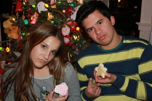 Eva and me with our cookies!