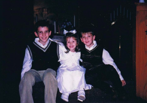 My brothers and I at church around Christmas!