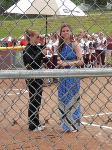 Singing the National Anthem at the state softball tournament!