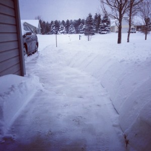 I just can't fathom the amount of snow on the ground.