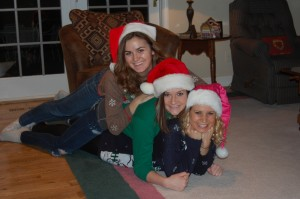 Abby, Lindsey, and I taking our annual Christmas pictures!