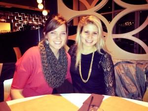 Marga and I at dinner