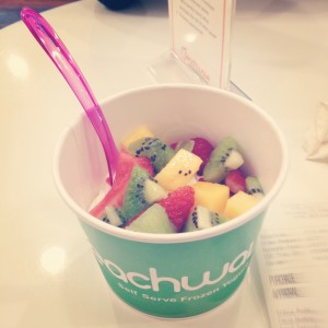 Frozen yogurt from Peachwave