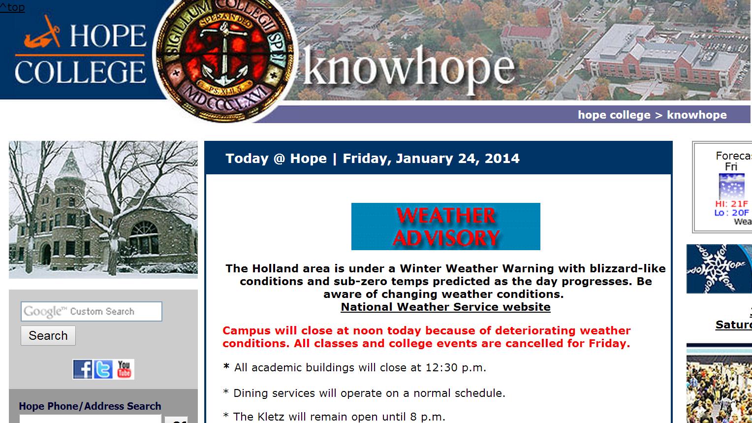 Campus Shutdown