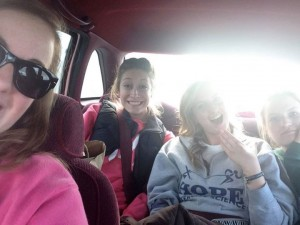 Car ride back to Hope!
