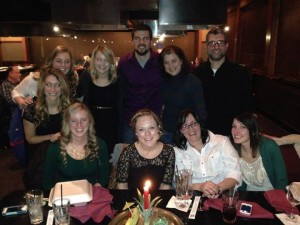Friend and family picture at the restaurant