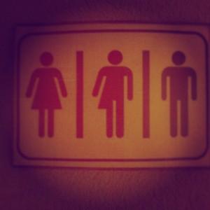 Gender-neutral restroom