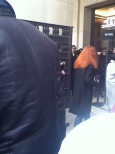 The back of Grace Coddington