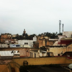 The view from the terrace of the building we took classes in- Rabat