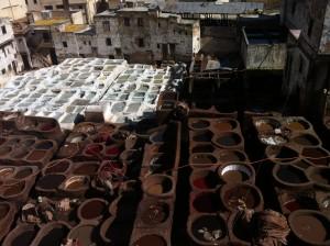 Legendary tannery in Fez