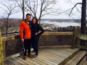 Brooke and I on top of Mt. Baldhead. The view of Saugatuck and Lake Michigan was absolutely awesome!