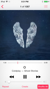 """Currently obsessed with the song """"O"""" by Coldplay. So beautiful."""