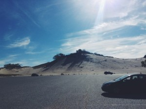 The sand mountain I decided NOT to climb.