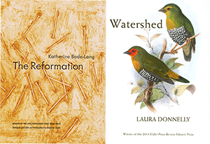 Katherine and Laura's books of poetry. Beautiful covers right?!