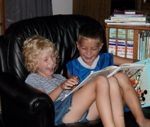 I might not succeed at math, but I love to read, and Harrison and I loved to read together when we were little.