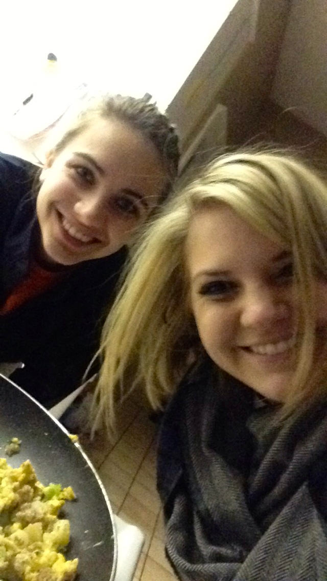 Had a great night cooking with my roommate, Elyse!