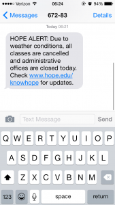 The text message that brought the best news of the week.