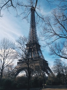 Even the tree branches can't hide the Eiffel Tower's beauty