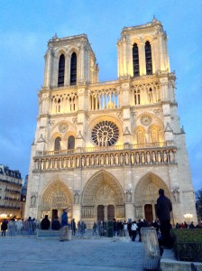 Notre Dame at night!