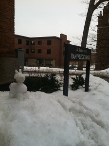 Gilbert, the snow goat of Van Vleck
