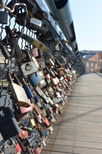 Europeans really like putting locks on their bridges.