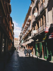 Colorful streets in Madrid!