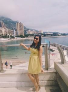Enjoying the beautiful weather in Monaco!
