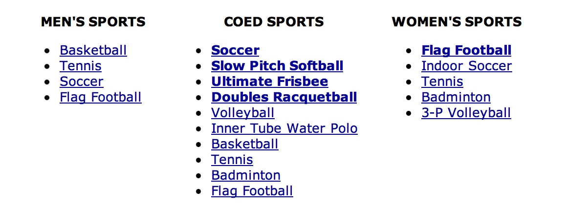 Hope College Intramural Sports