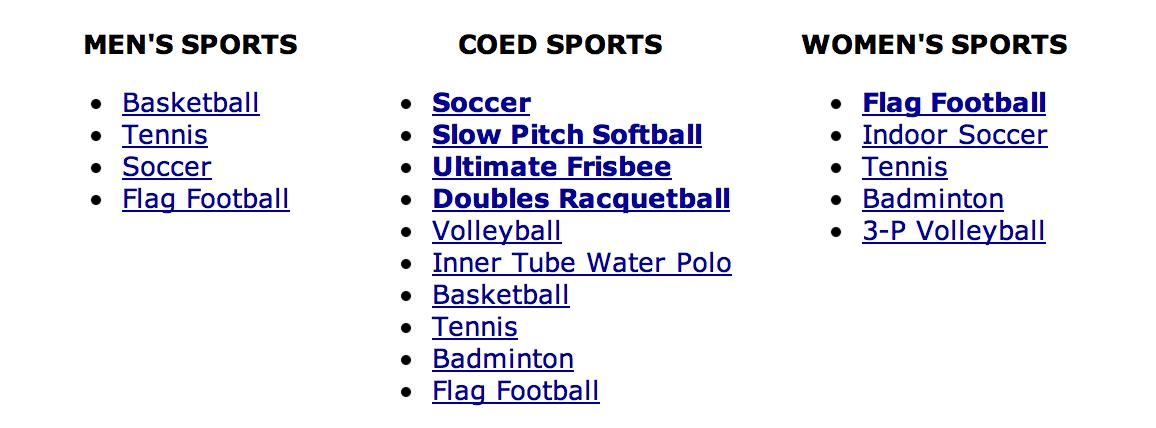 Hope College Intramural Sports
