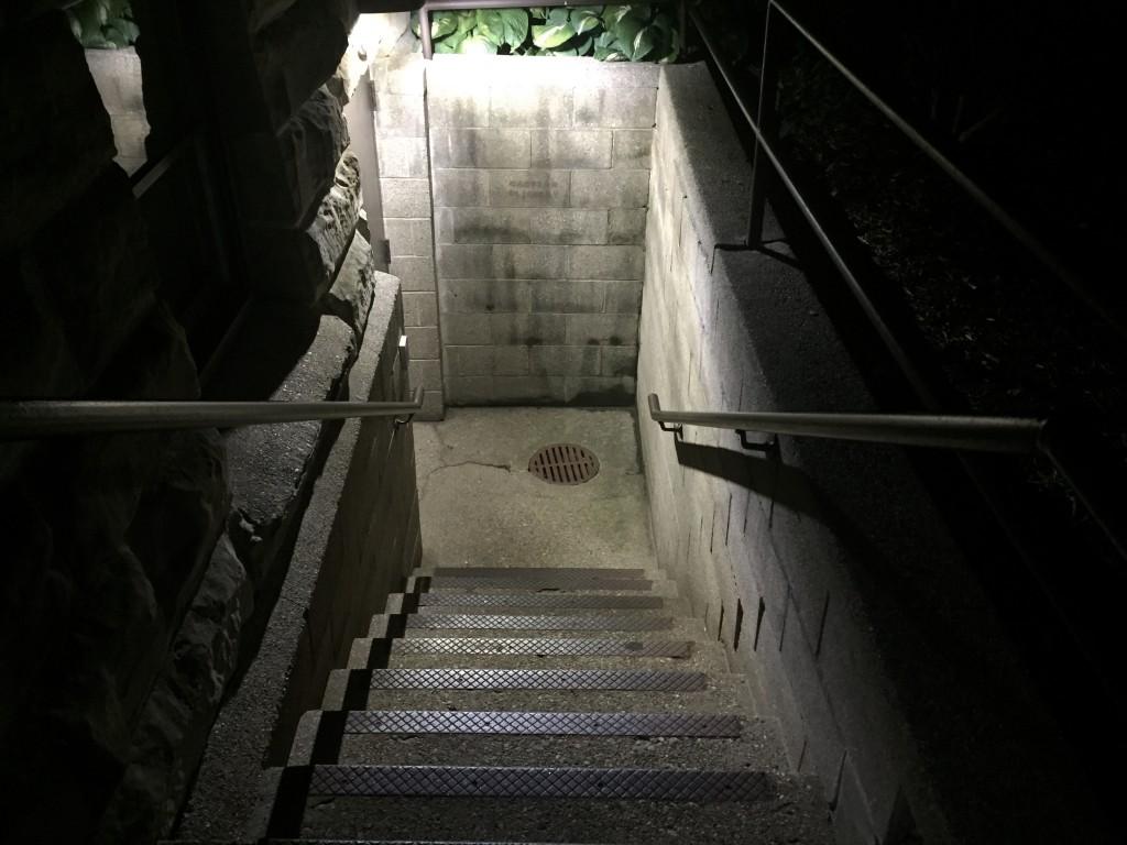 Stairway towards Graves Hall Basement