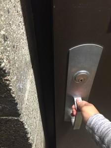 Opening the door...