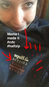 This is me with my CDC half-zip. I love the CDC!!!!