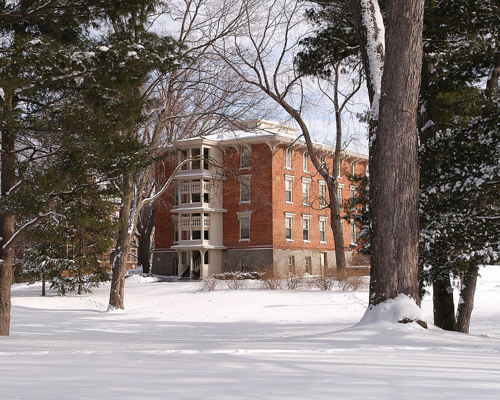The oldest dormitory at Hope College named Van Vleck Hall.
