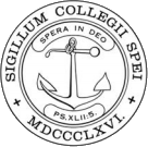 "Hope College´s emblem with a motto ""Spera in Deo""."