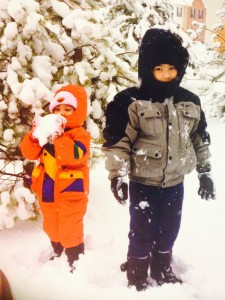 Two kids in the snow