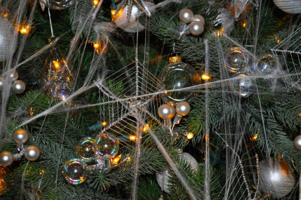 Spider webs are common Christmas decoration in Ukraine.