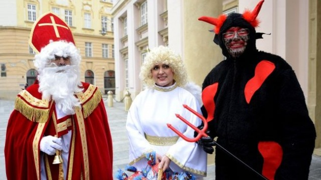 St. Nicholas, Angel and Devil are the main figures of tradition in the Czech Republic, which takes a place on December 5.