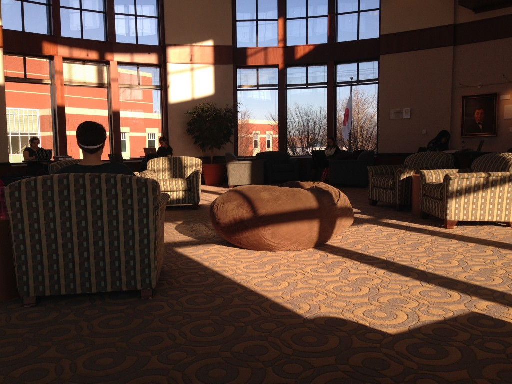 The rotunda is a good place to study.