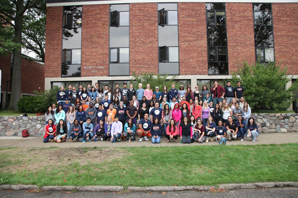 2015-2016 Phelps Scholars in front of Scott Hall.