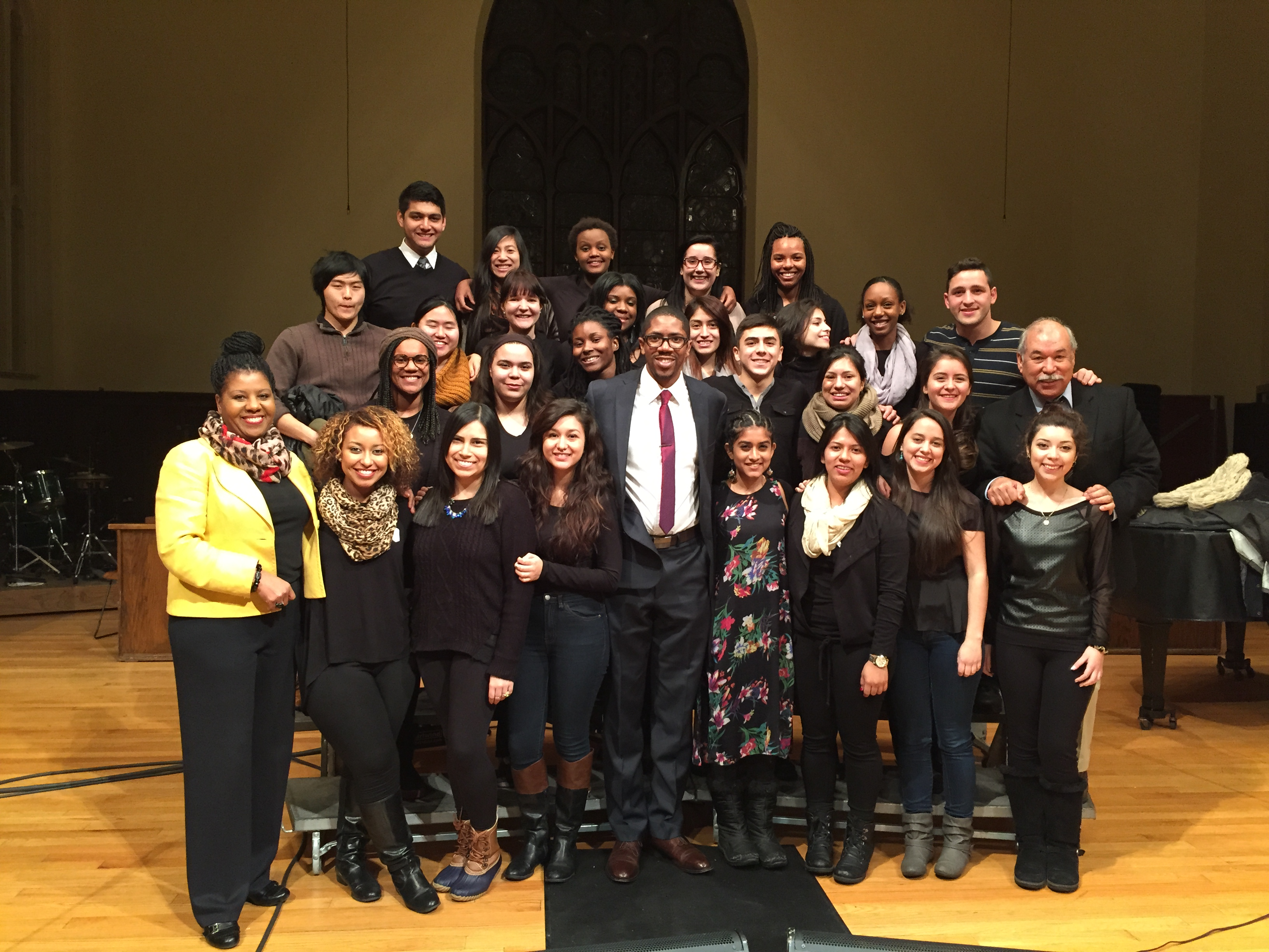 Students and Faculty with speaker David Paul.