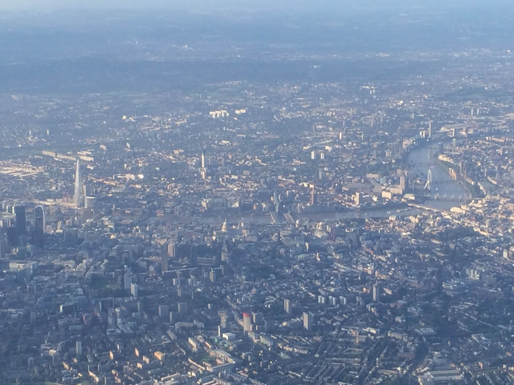 The view of London.