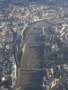 River Thames, London Eye, and The Big Bang.